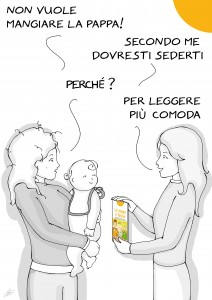 vignetta bambino naturale in tasca