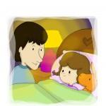 papà bambina libri illustrati sonno bambini