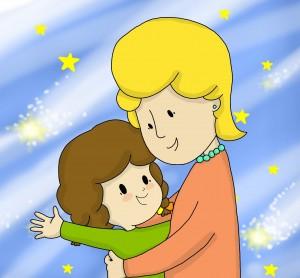 immagine libro su amore bambino per mamma e papà