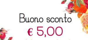 Per te subito 5€ in regalo! Usa il codice sconto nel tuo ordine!