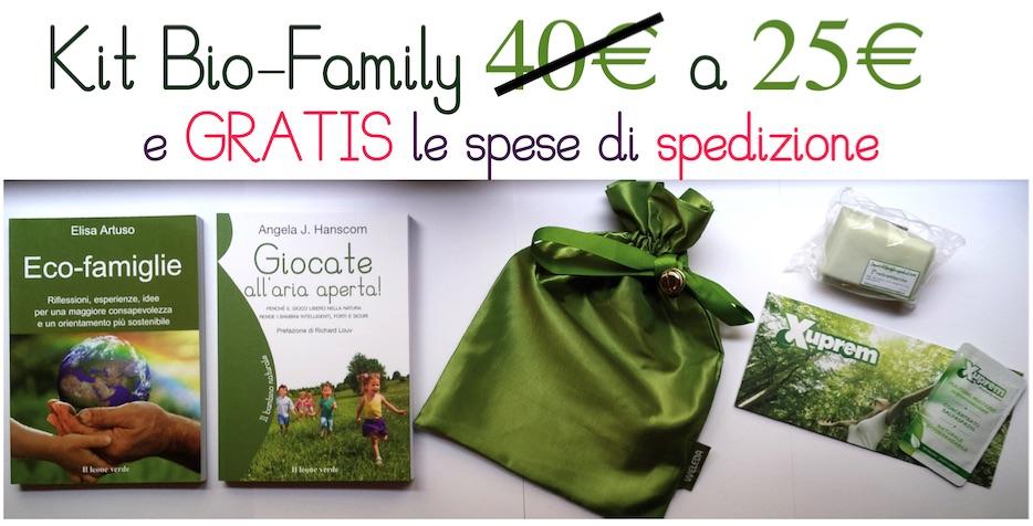 Kit Bio-Family: una borsina piena di Sorprese Green, a un prezzo incredibile!