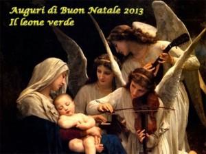 cartolina auguri buon natale dal bambino naturale