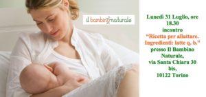 Un incontro nella sede del Bambino Naturale per parlare di allattamento