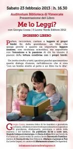 volantino evento su leggere ai bambini