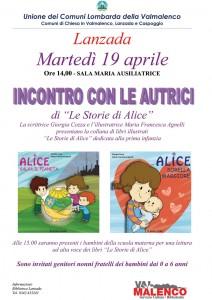volantino libri per bambini storie di alice