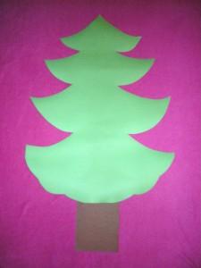 albero natale bambini cartoncino