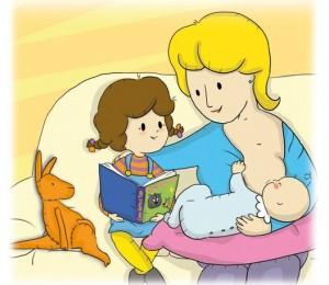 Il latte materno nei libri per bambini