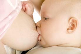 Latte materno e sorriso del bambino
