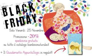 Venerdì 25 novembre, promozione Black Friday su tutti i libri del bambinonaturale.it