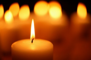 candela per saluto bambino naturale