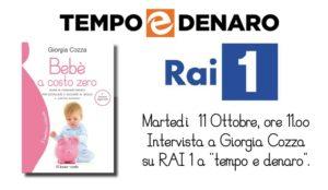 """Giorgia Cozza ospite a """"Tempo & Denaro"""" su Rai 1 l'11 Ottobre"""