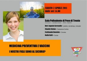 locandina incontro vaccinazioni bambini