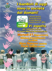 La pedagogia Montessori a Modena