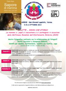 locandina evento latte materno per sam 2013