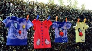 Tingere una maglietta con colori naturali