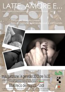manifesto mostra latte materno