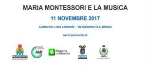 """11 Novembre 2017: convegno internazionale """"Maria Montessori e la musica"""""""