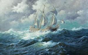 parto naturale come nave sul mare
