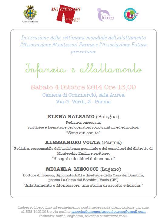Latte materno e infanzia, un convegno a Parma