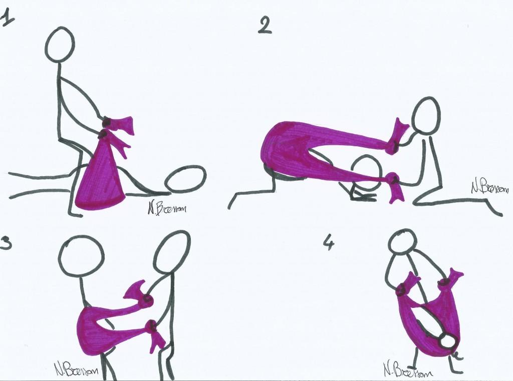 come massaggiare bambino mamma con rebozo