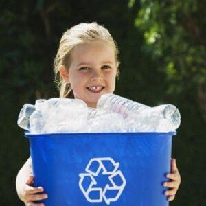 riciclo bottiglie cucina con bambini