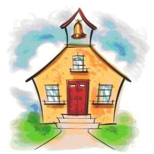 scuola a casa abitazione con campanella